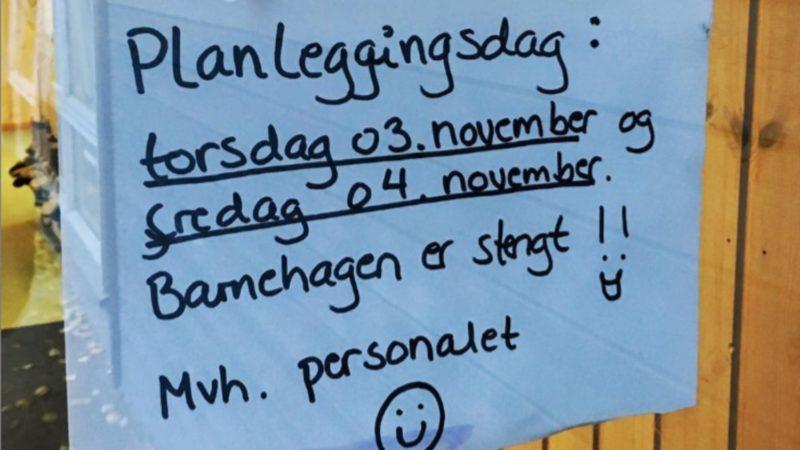 Planleggingsdag. Dziś szkoła jest zamknięta.